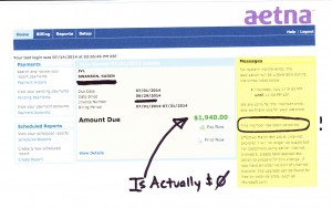 Aetna Incorrect Bill Screencap_0001